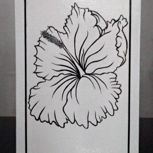 Preto & Branco Flor Hibisco