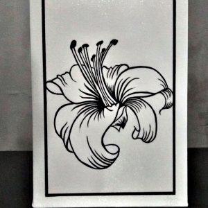 Preto & Branco Flor Lírio